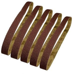 5 Bandes abrasives 25 x 762 mm