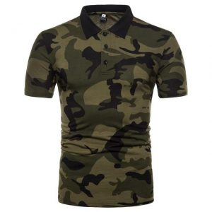 Polo manches courtes camouflage militaire